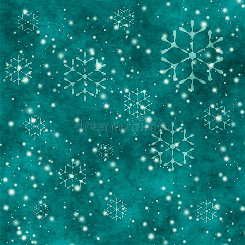Grunge snowflakes vector illustration