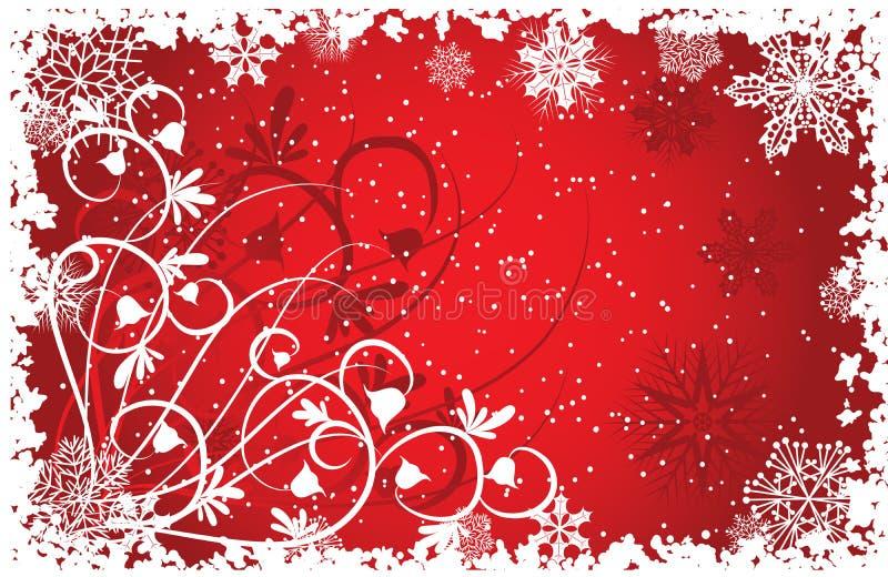 Grunge snowflakes background, vector stock illustration