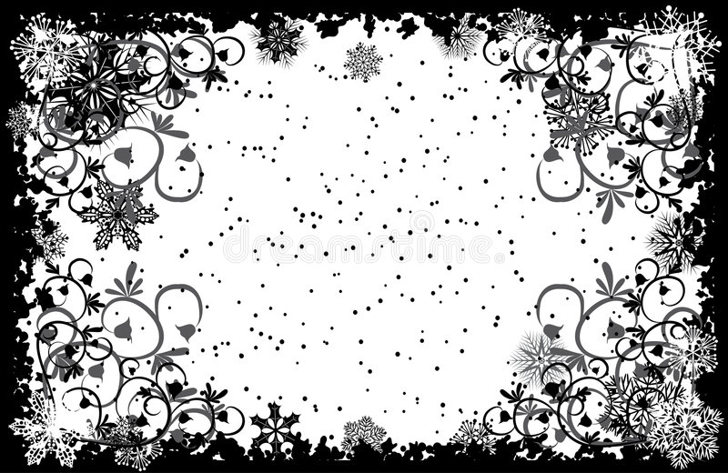 Download Grunge Snowflakes Frame, Vector Stock Vector - Image: 1553742