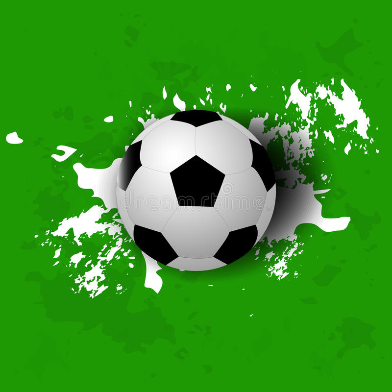 Download Grunge Soccer Ball Background Stock Vector - Image: 42185065