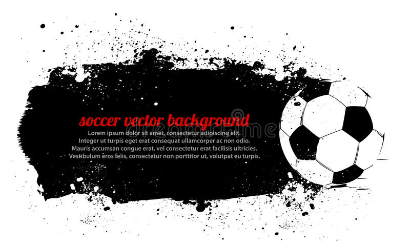 Grunge Soccer Banner royalty free illustration