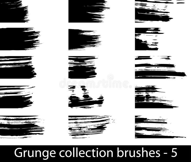 Grunge spazzola la riga illustrazione vettoriale