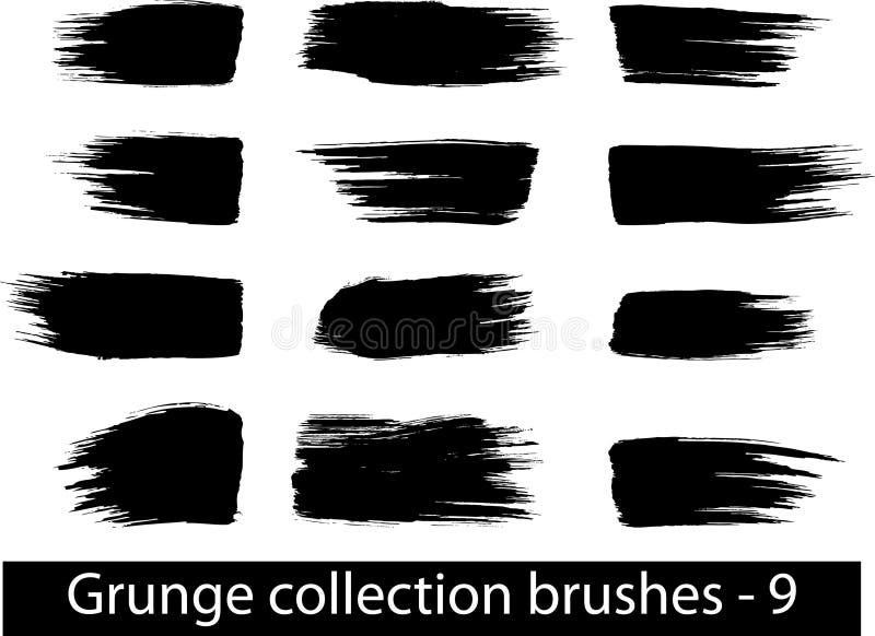 Grunge spazzola la riga illustrazione di stock