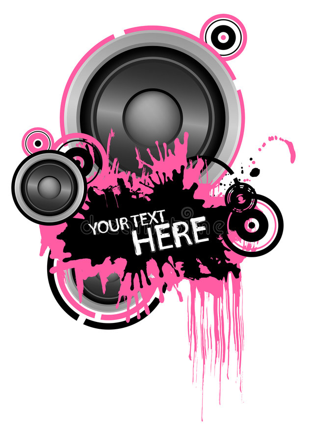 Grunge speaker design vector illustration