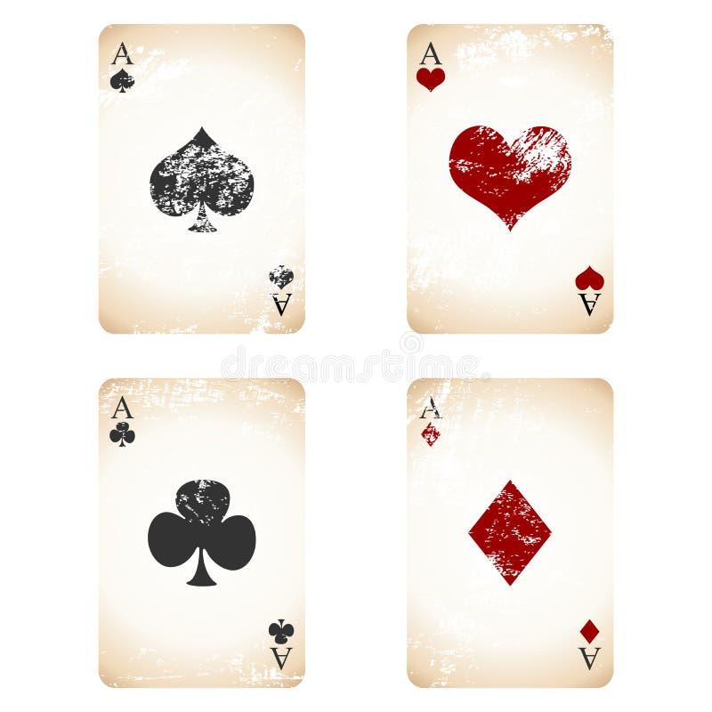 Grunge Spielkarten stock abbildung