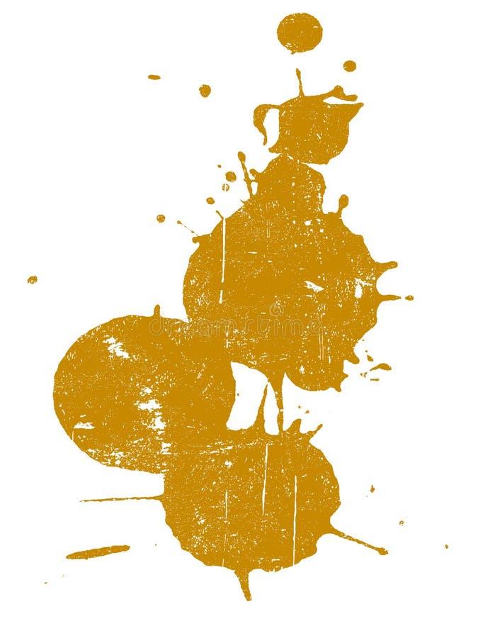 Grunge Splat 3 lizenzfreie abbildung