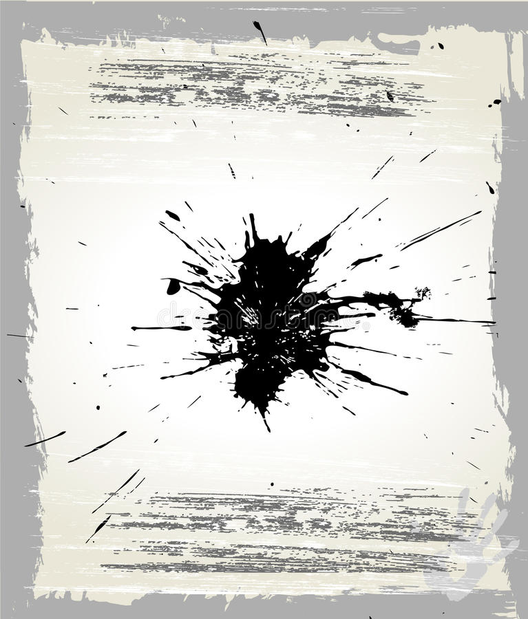 Grunge Splats And Frame Royalty Free Stock Photos