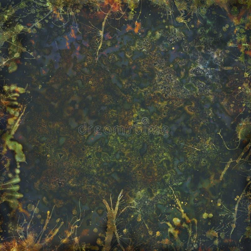 Grunge splatters stubarwny tło royalty ilustracja