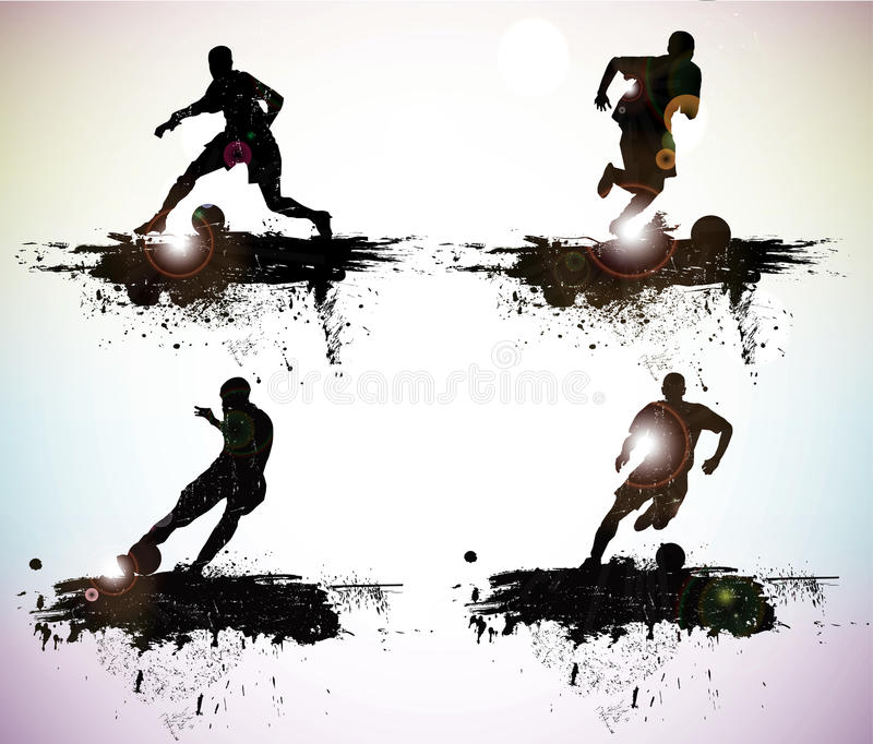 Sport silhouettes. Grunge sport silhouettes vector illustration