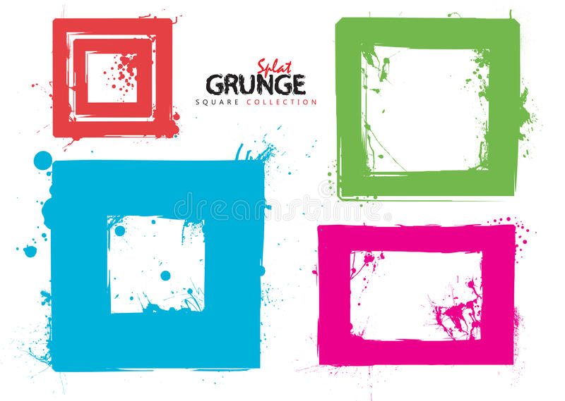 Download Grunge Square Collection Ink Stock Vector - Illustration of print, background: 19833655