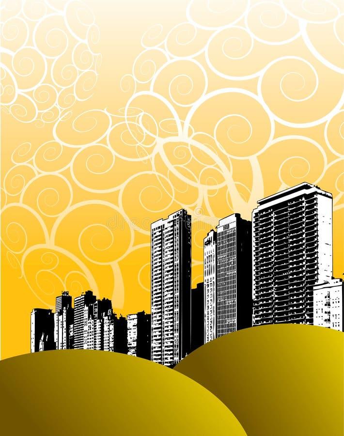 Grunge Stadtauslegung vektor abbildung