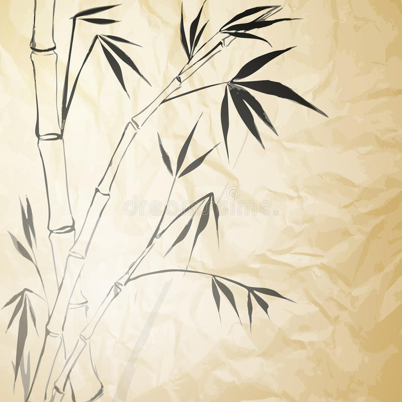 Download Grunge Stained Bamboo Paper Stock Vector - Image: 29724242