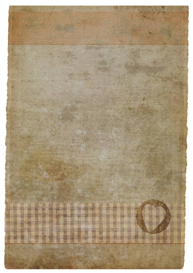 grunge stained handmade piece of paper stock photo