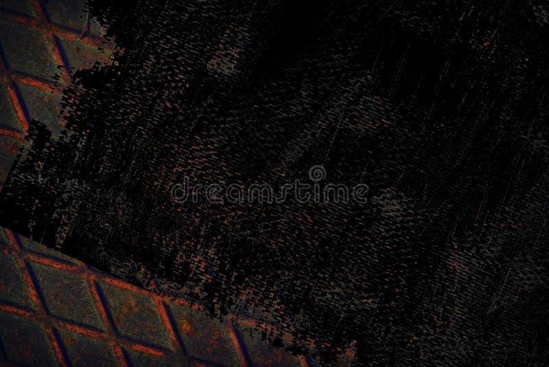 Grunge stali nierdzewnej Ultra pomarańczowa tekstura, żelazny tło dla projektanta use fotografia stock