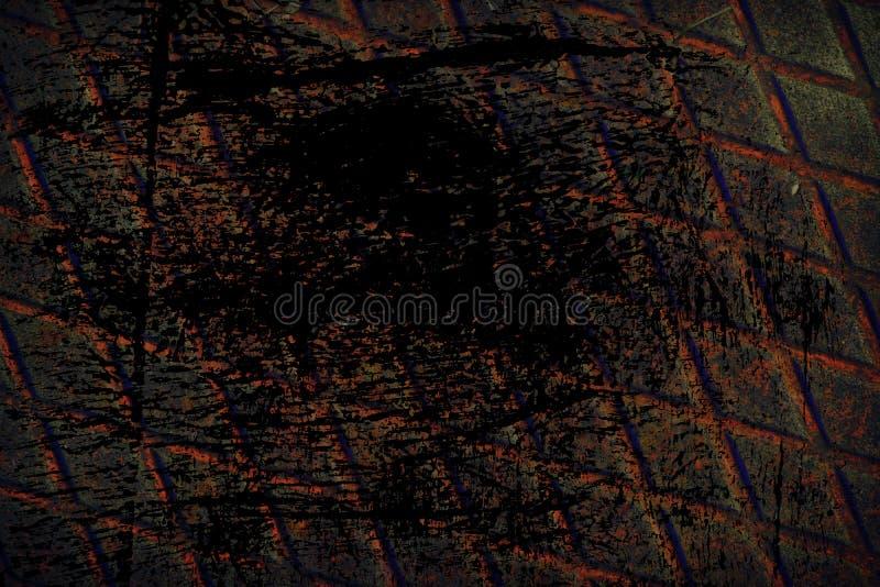 Grunge stali nierdzewnej Ultra pomarańczowa tekstura, żelazny tło dla projektanta use obrazy stock