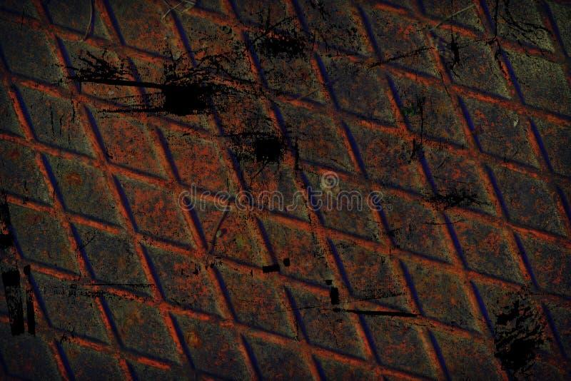 Grunge stali nierdzewnej Ultra pomarańczowa tekstura, żelazny tło dla projektanta use zdjęcia royalty free