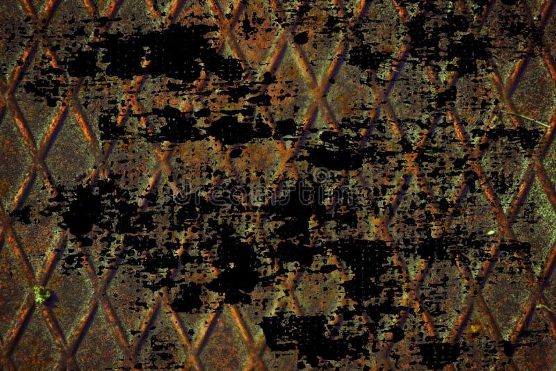 Grunge stali nierdzewnej Ultra pomarańczowa tekstura, żelazny tło dla projektanta use zdjęcia stock
