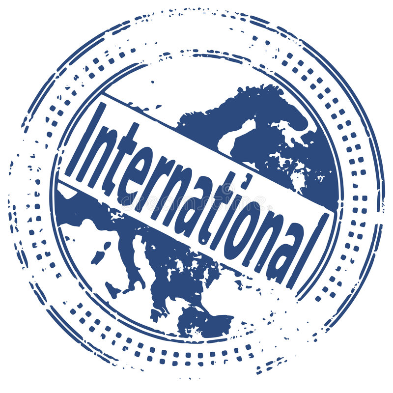 Grunge stamp INTERNATIONAL vector illustration