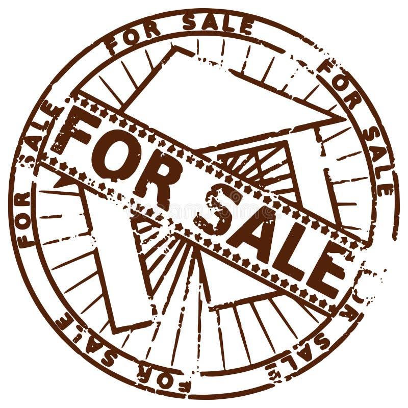 Grunge stamp FOR SALE royalty free illustration