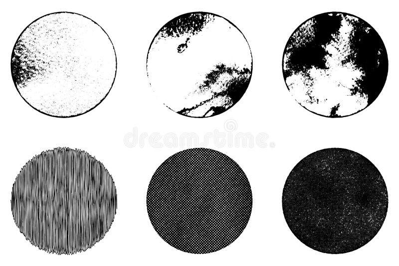 Grunge Stamp Set. Grunge stamp mockups set of distressed overlay circle mark texture for your design. EPS10 vector vector illustration