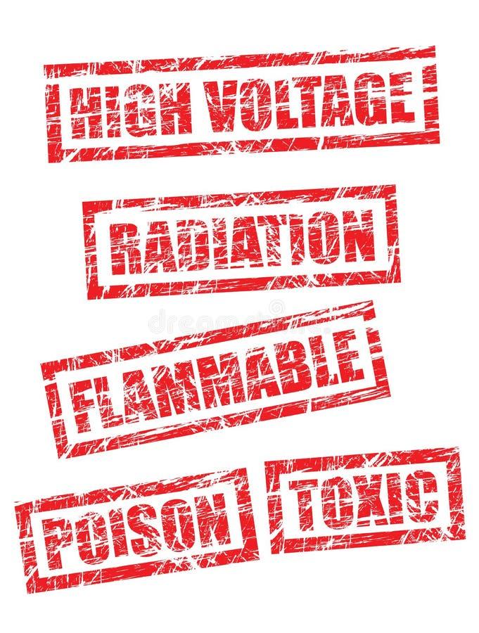 Grunge stamps, 5 of 5 stock illustration