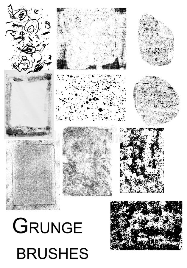 Grunge stamps royalty free stock images