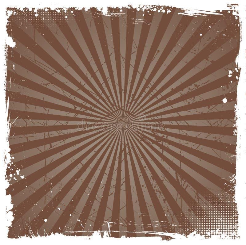 Grunge starburst royalty free illustration