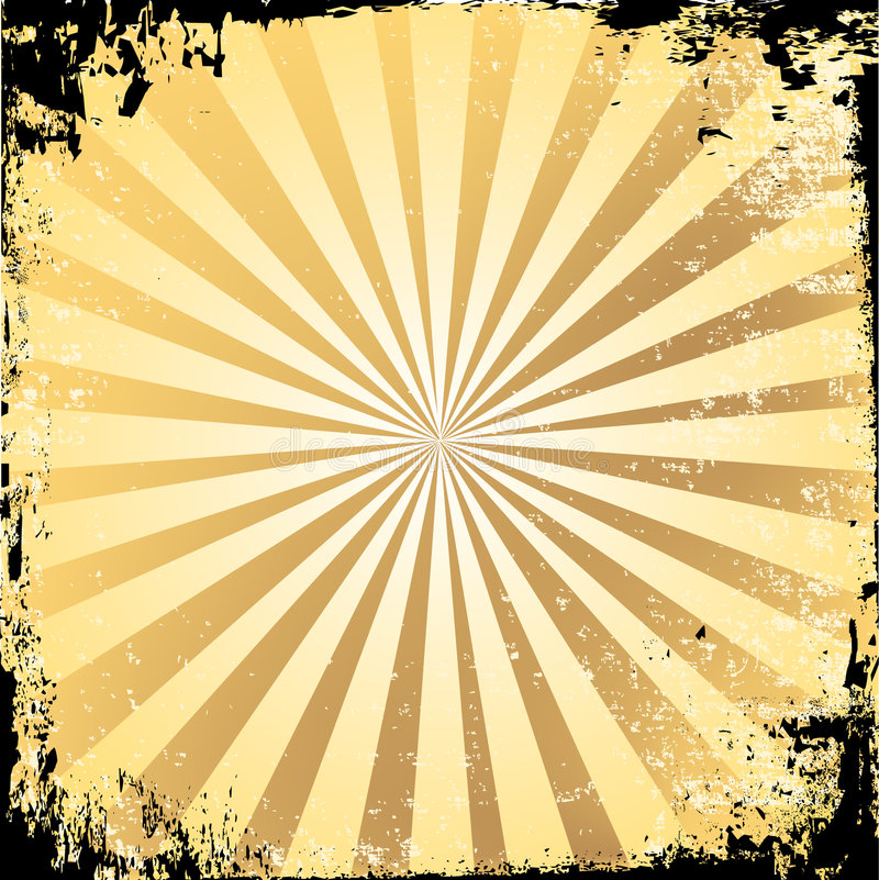 Grunge Starburst stock de ilustración