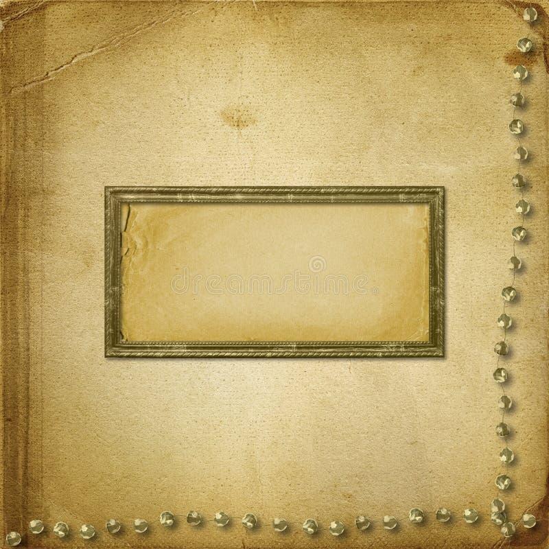 grunge stare photoalbum fotografie ilustracji