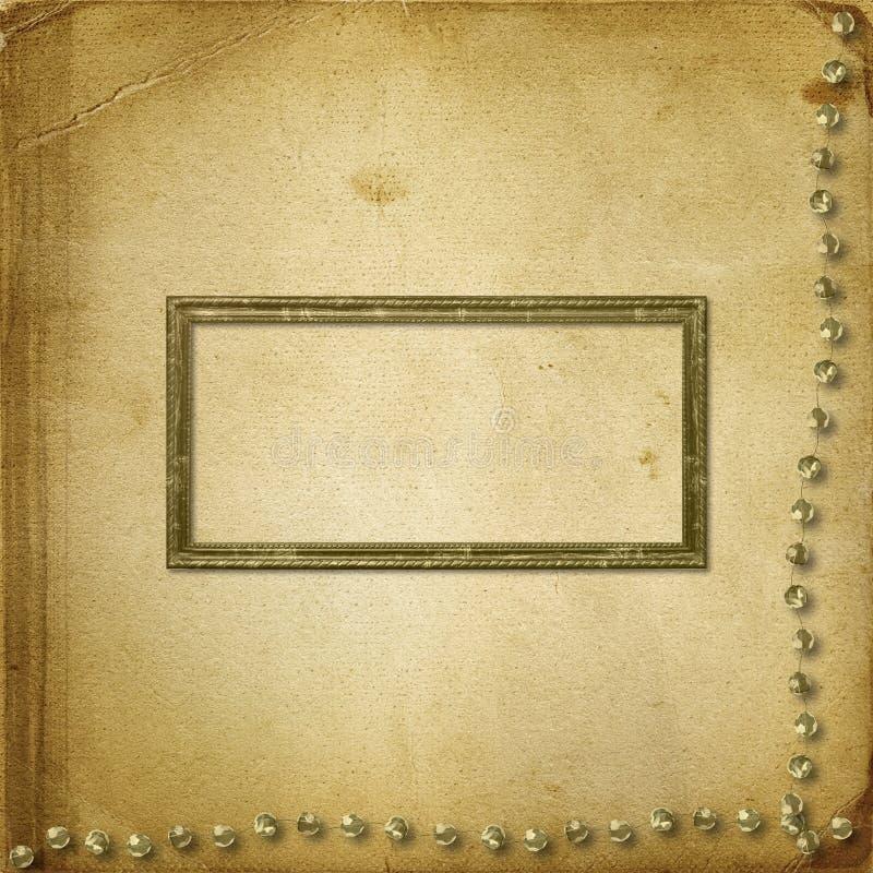 grunge stare photoalbum fotografie royalty ilustracja