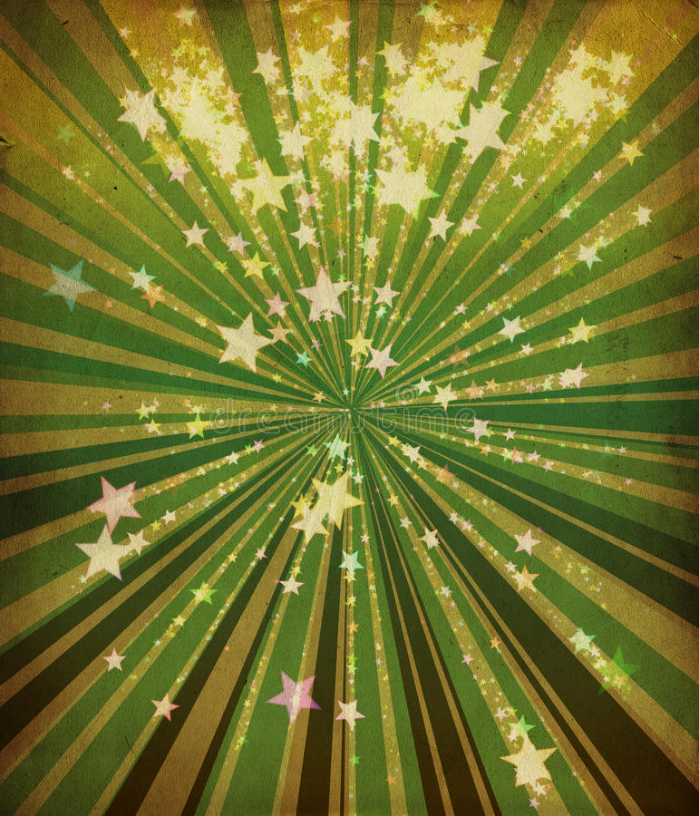Free Grunge Stars And Green Lines Royalty Free Stock Image - 26421276