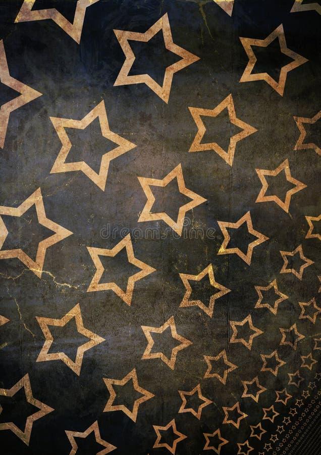 Grunge stars background vector illustration