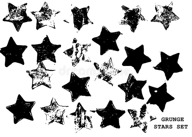 rounded pentagram stars stock image