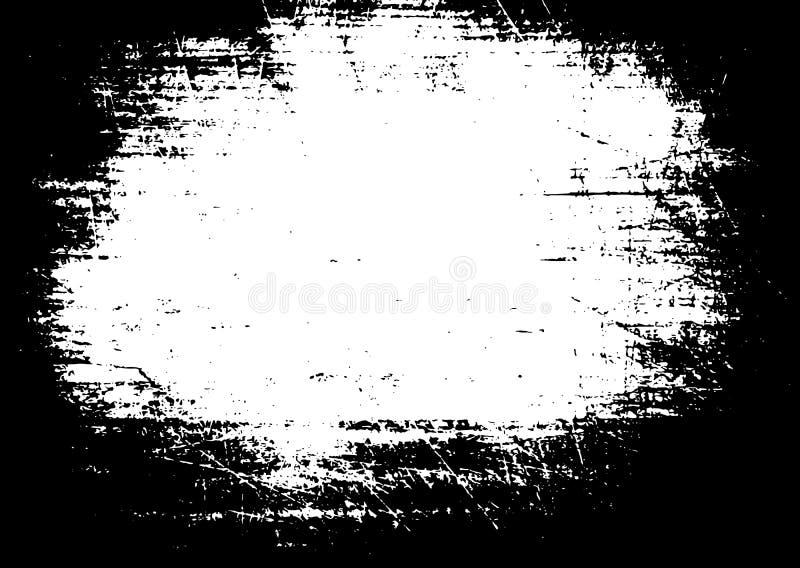 Grunge stary drewniany czarny tło Drewnianej deski narzuty zakłopotana tekstura Starzejąca się deska Eps10 Wektor ilustracja wektor