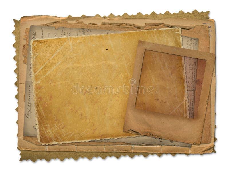 grunge stary papierów obruszenie royalty ilustracja