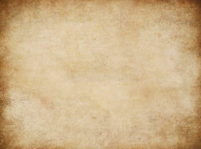 Grunge stary papier dla skarb mapy lub rocznika listu zdjęcie stock