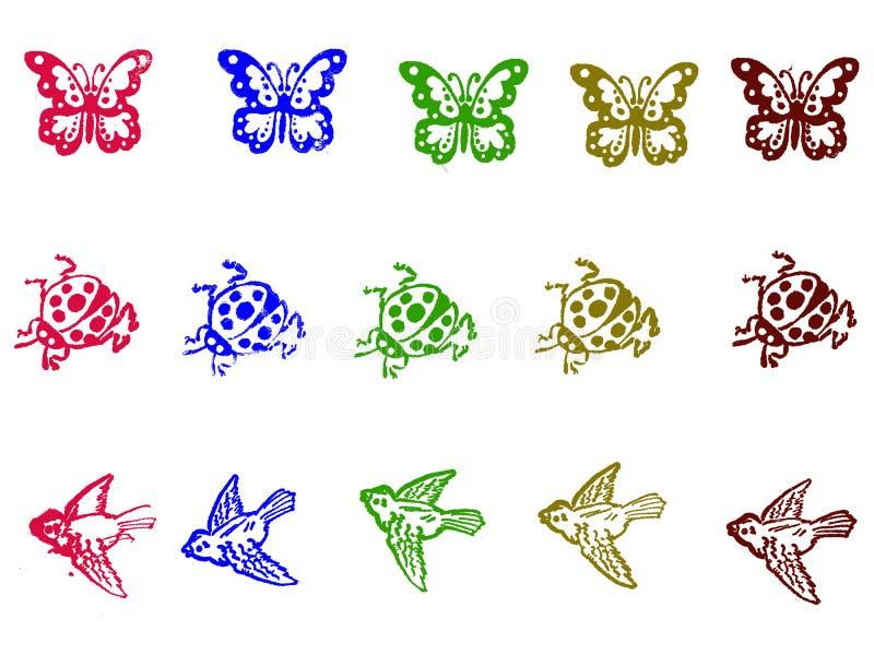 Grunge Stempel - Insekte vektor abbildung