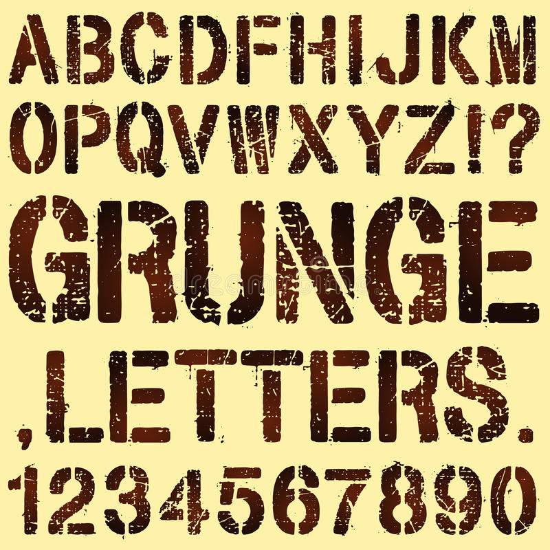 Download Grunge Stencil Letters stock vector. Image of letters - 35368335
