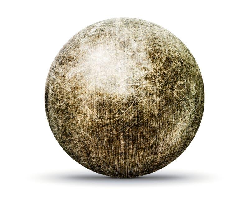 Grunge stone ball vector illustration