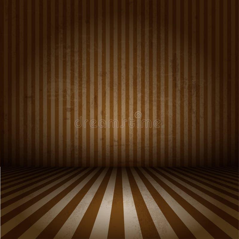 Grunge striped interior vector illustration