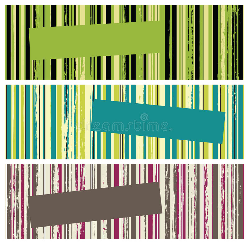 Grunge stripes banners royalty free illustration