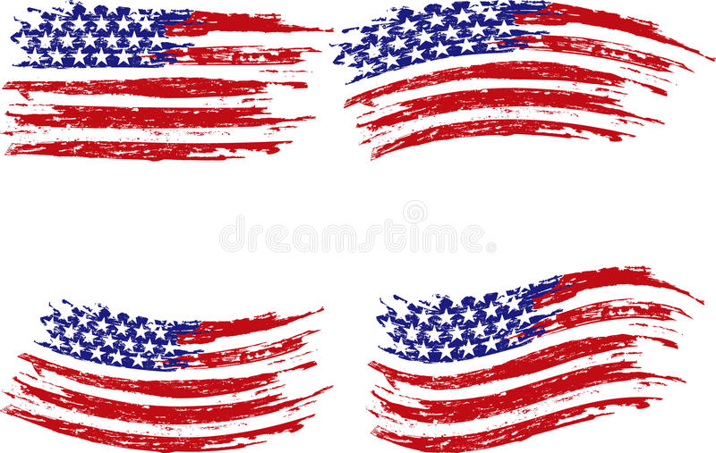 Grunge stripes and stars stock images