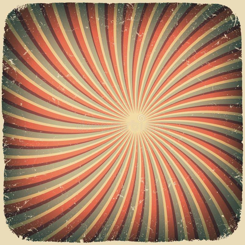 Grunge Strudel rays Retro- Hintergrund. lizenzfreie abbildung