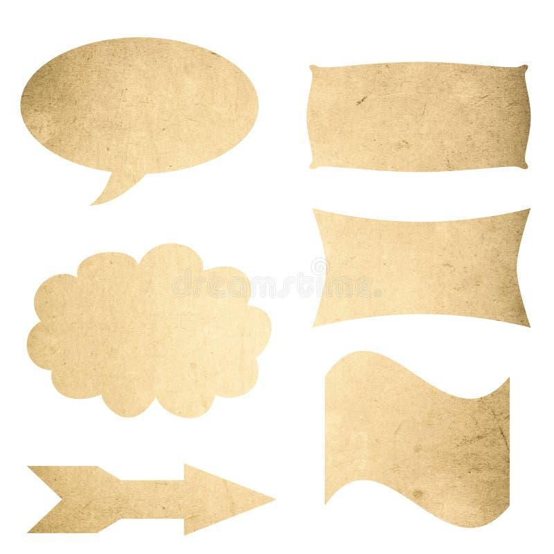 Grunge struttura il segno in bianco illustrazione vettoriale