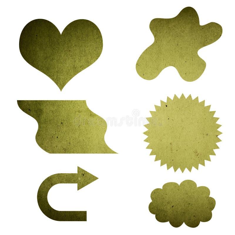 Grunge struttura il segno in bianco illustrazione di stock