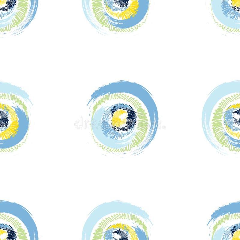 Grunge stubarwni okręgi na białym tle ilustracji