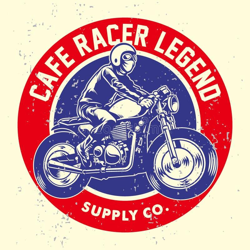 Grunge styl cukierniana setkarz odznaka ilustracja wektor