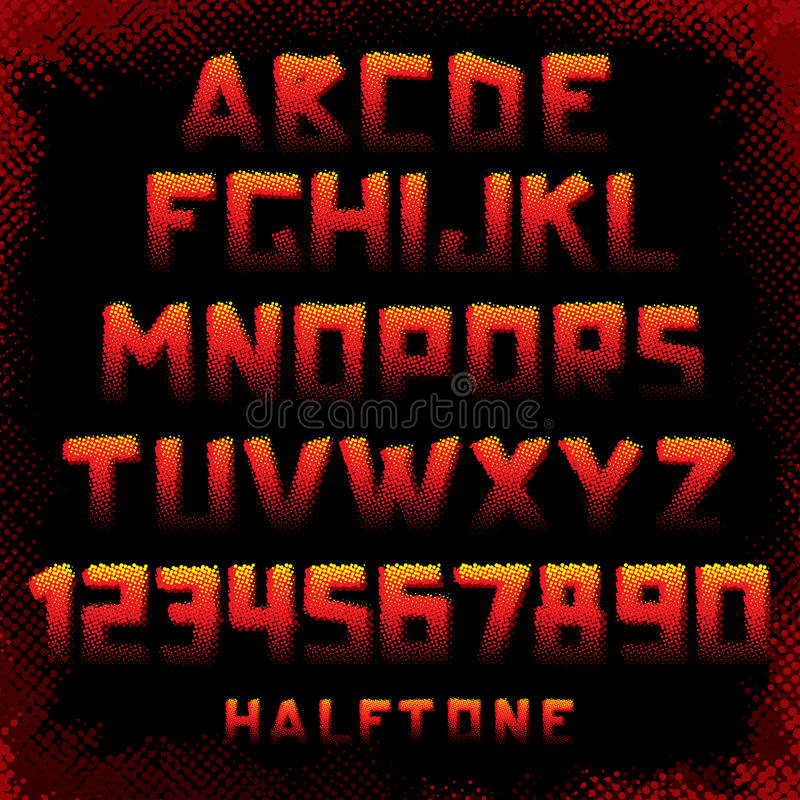 Download Grunge Style Alphabet stock vector. Illustration of fiery - 22009093