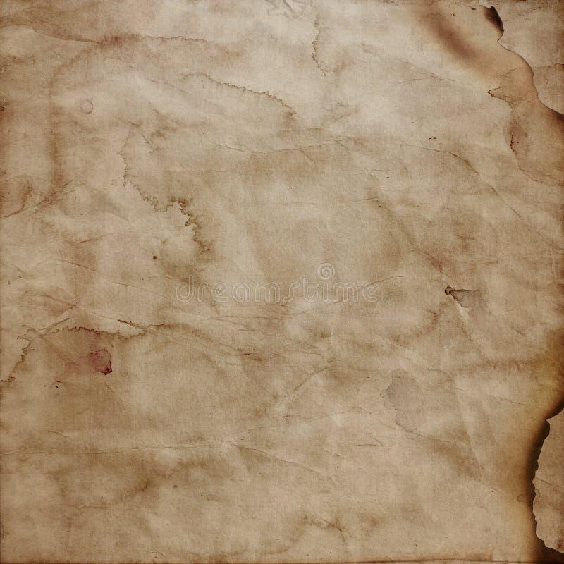 Grunge style burnt paper background stock illustration