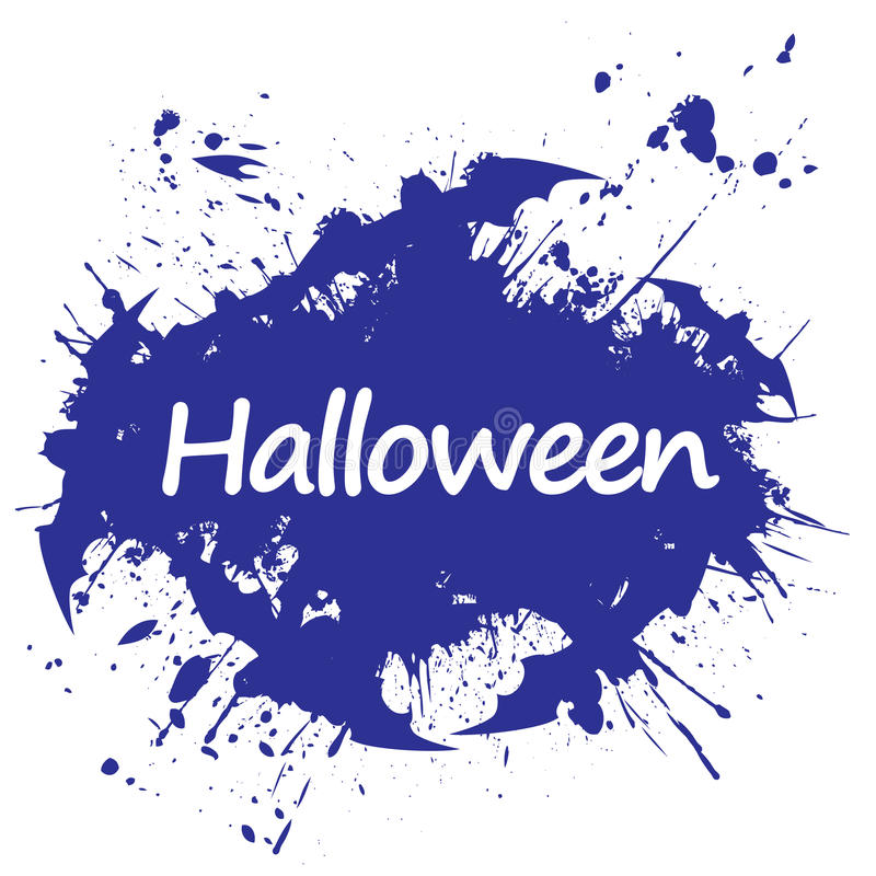 Grunge style halloween. Abstract vector illustration royalty free stock image